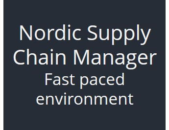 Nordic Supply Chain Manager